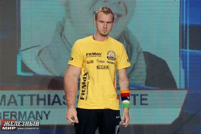 Matthias Schlitte, a.k.a. Popeye, is a German arm wrestling champion.