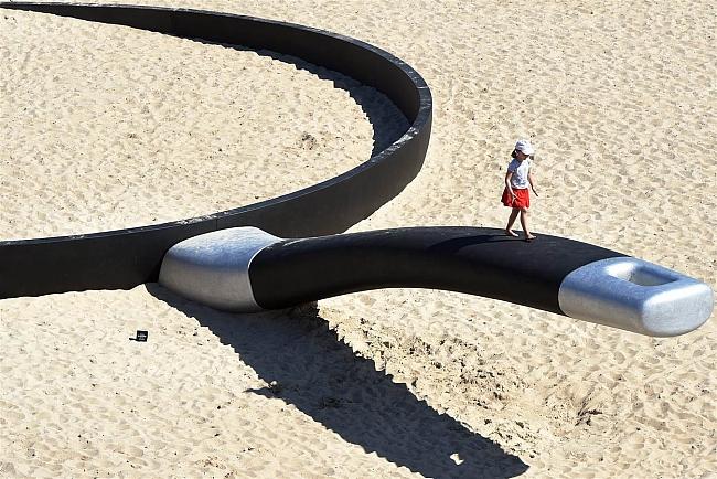 huge frying pan sculpture in Sydney, Australia.