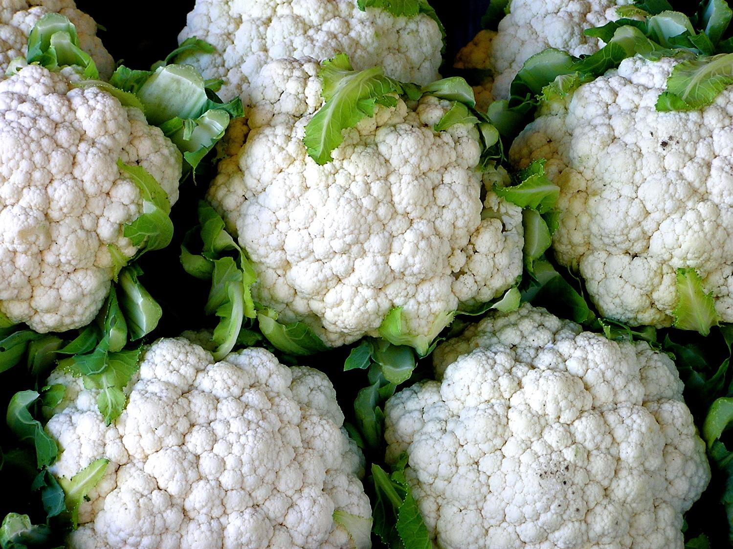 Cauliflower negative calorie food