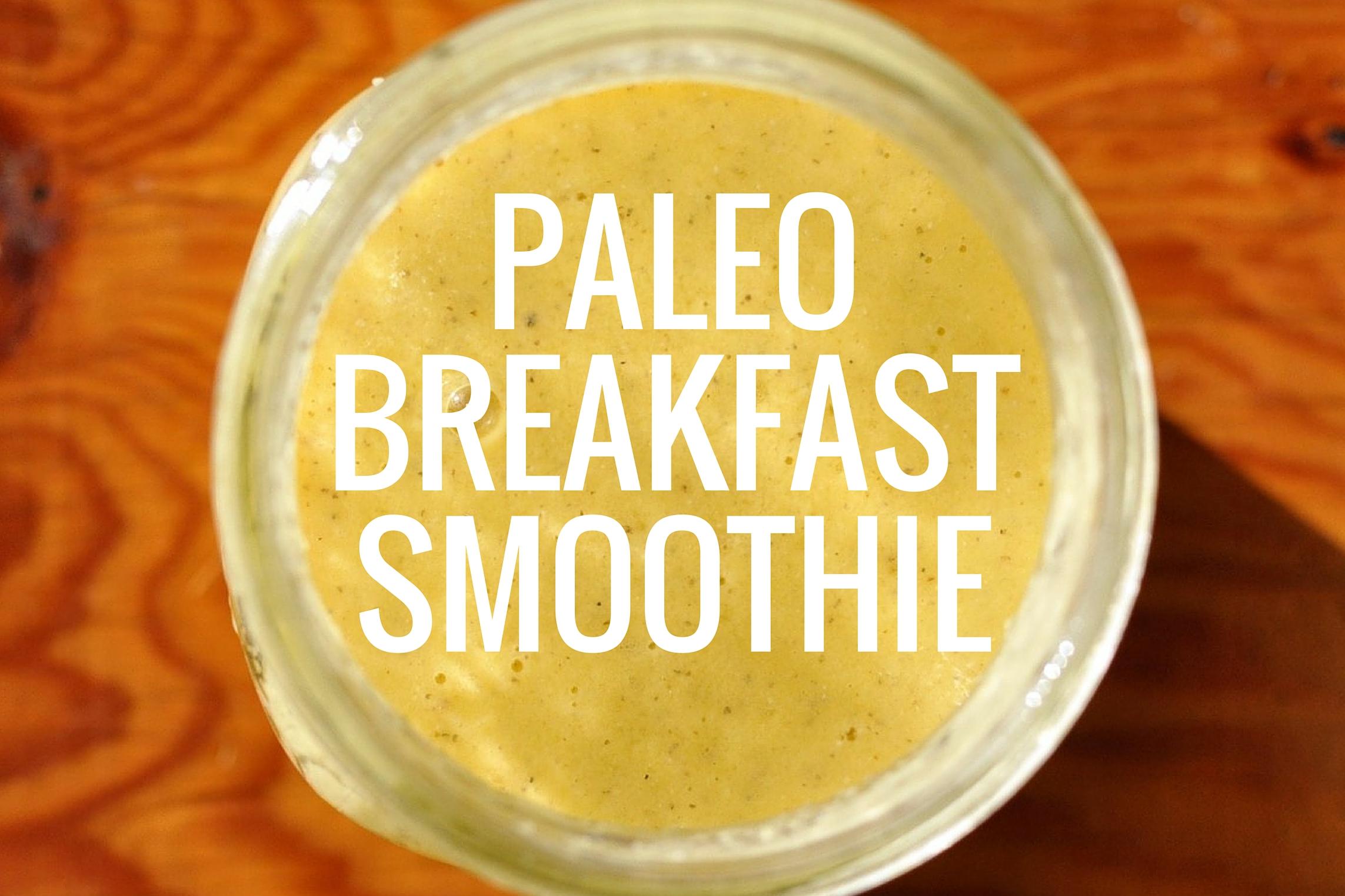 Paleo Breakfast Smoothie Recipe