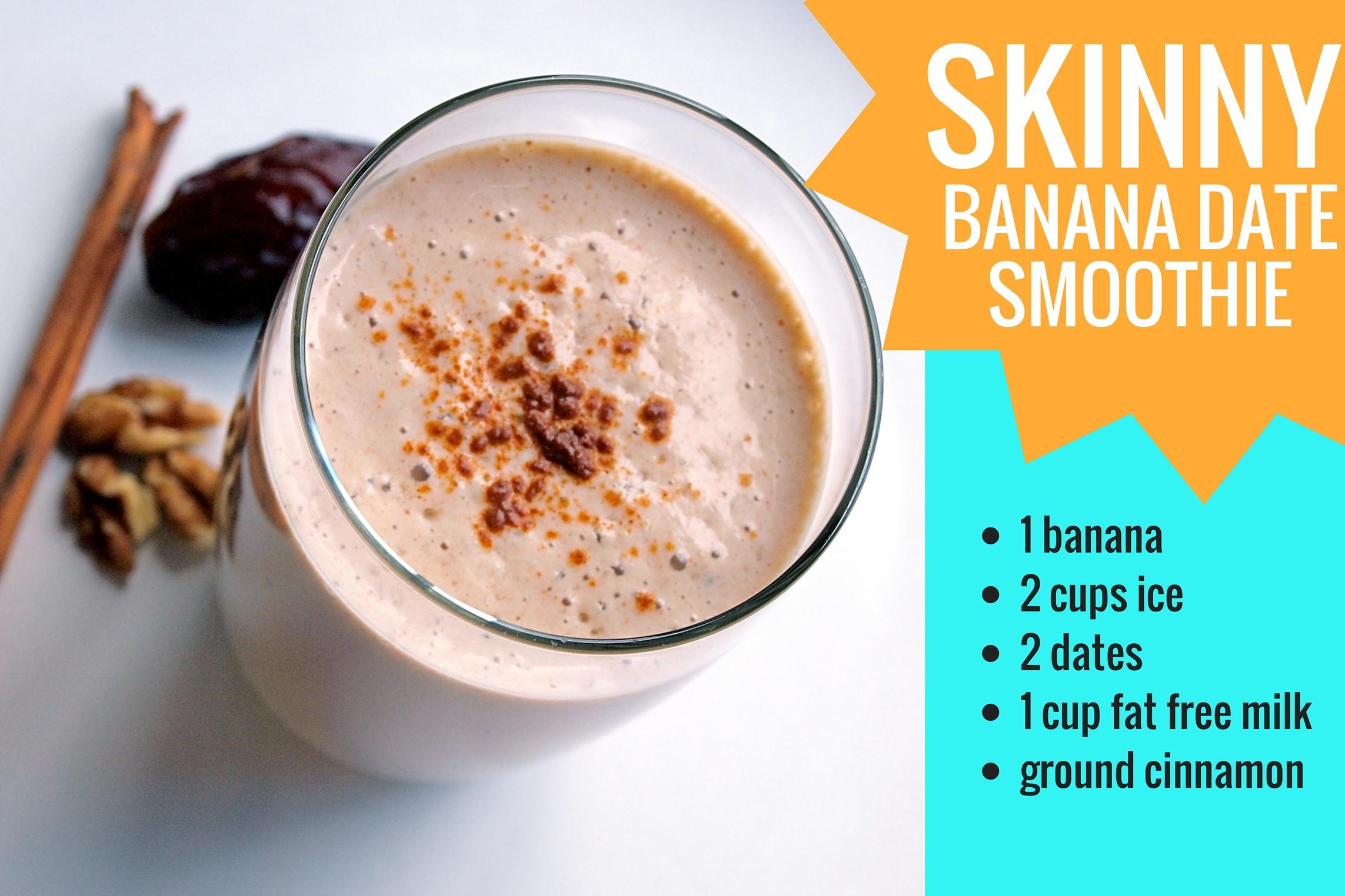 SKINNY Banana Date Smoothie