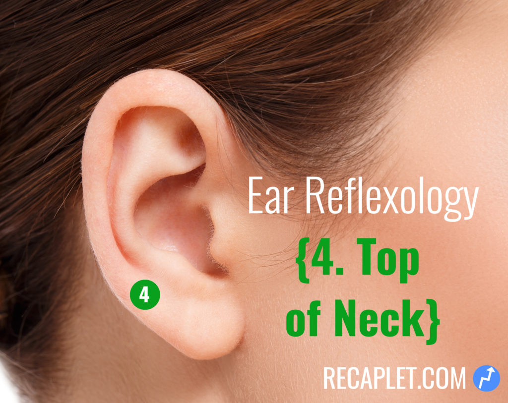 Ear Reflexology for Top of Neck