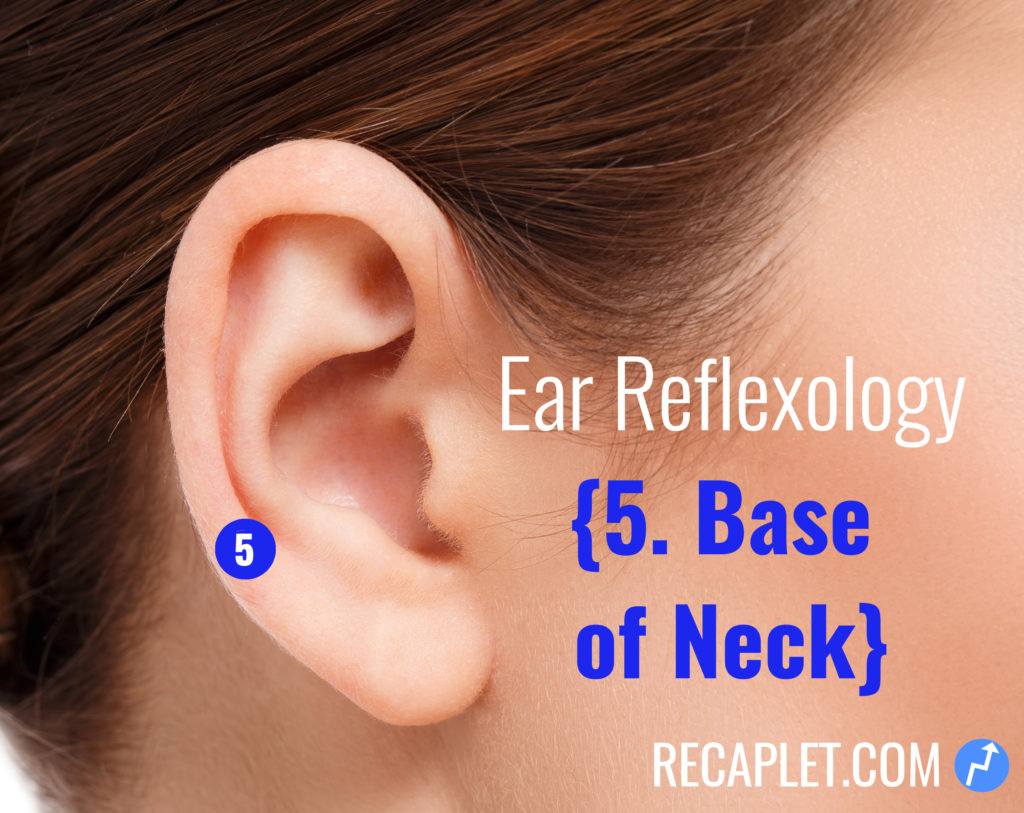 Ear Reflexology for Base of Neck