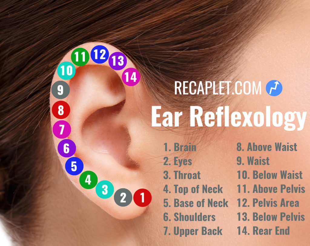 Ear Reflexology Pressure Point Pain Chart